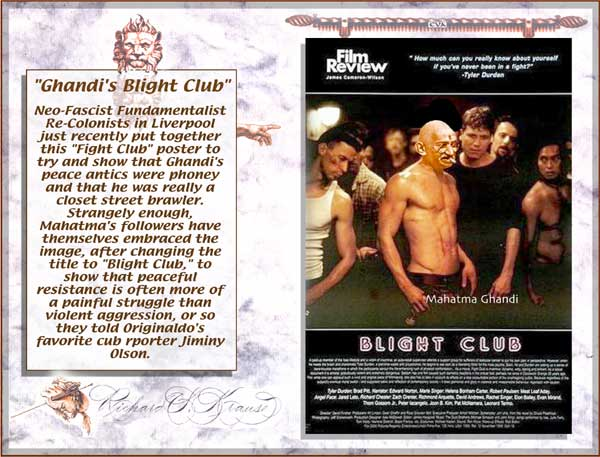 mahatma ghandi fight club